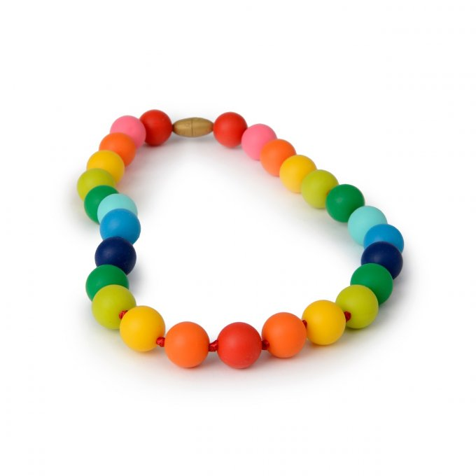 Chewbeads : collier dentition silicone Rainbow Enfant