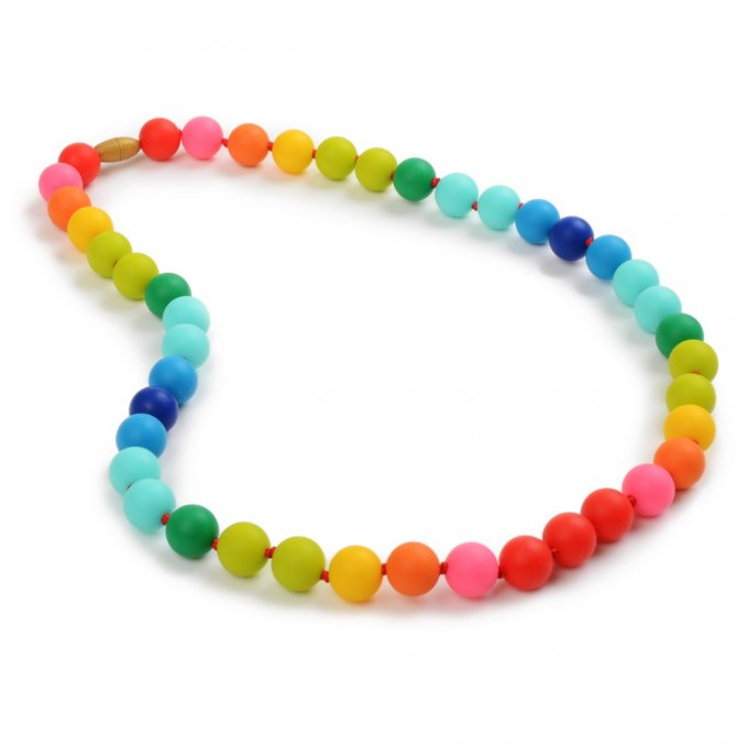 Chewbeads : collier dentition silicone Rainbow Maman